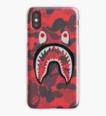 red shark grapic iPhone Case