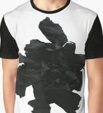 Abstract black paper flower Graphic T-Shirt