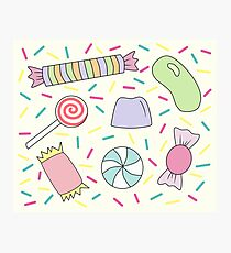 Sweets & Sprinkles Pattern Photographic Print
