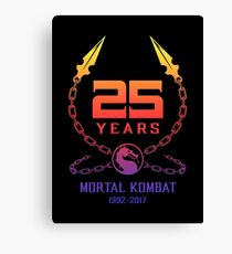 25 Years of Mortal Kombat Canvas Print