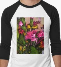 Pink Flowers and Green Leaves with some Yellow T-Shirt