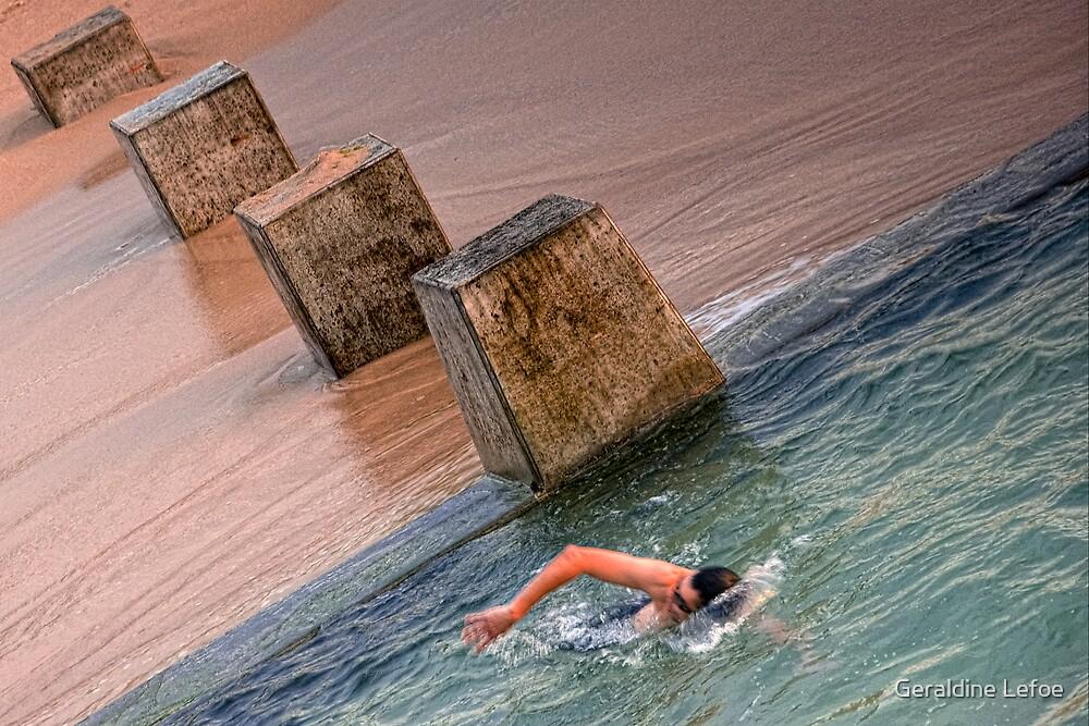 Coogee swim by Geraldine Lefoe