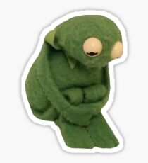 SAD KERMIT MEME Sticker