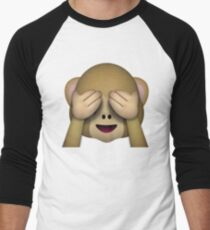 Monkey Emoji - See No Evil Men's Baseball ¾ T-Shirt