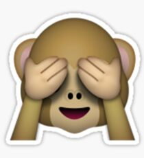 Monkey Emoji - See No Evil Sticker