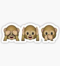 Monkey Emoji - See No Evil, Hear No Evil, Speak No Evil Sticker