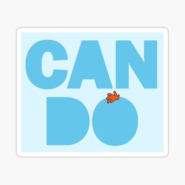Can Do! Sticker