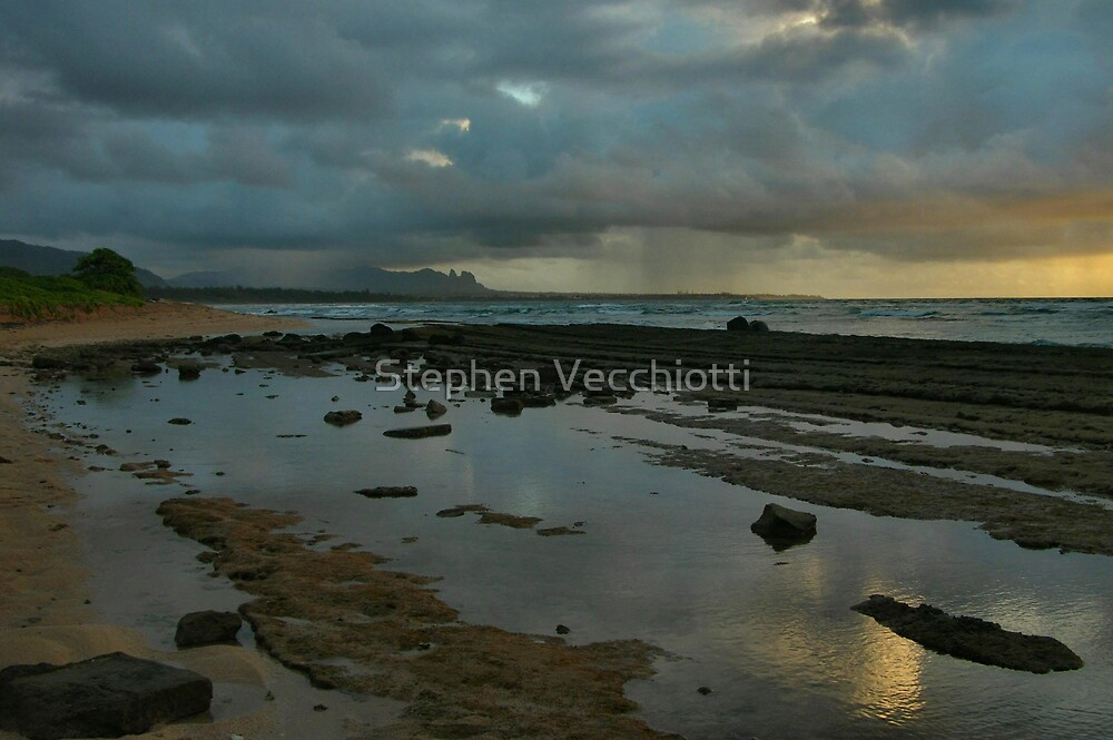 Stormy Dawn Reflections by Stephen Vecchiotti