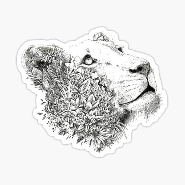Lioness flowers Sticker
