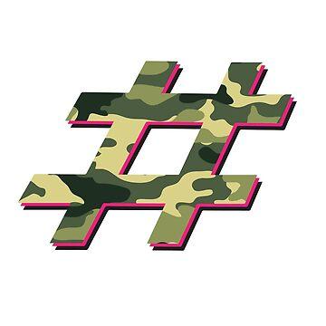 Tshirt Hashtag Camo Design by william2a
