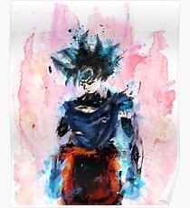 Son goku ultra instinct style dessin Poster