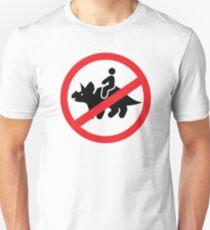 No Riding Triceratops T-Shirt