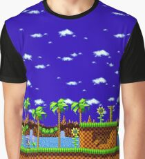 Green Hill Zone - Sonic the Hedgehog Scene Graphic T-Shirt