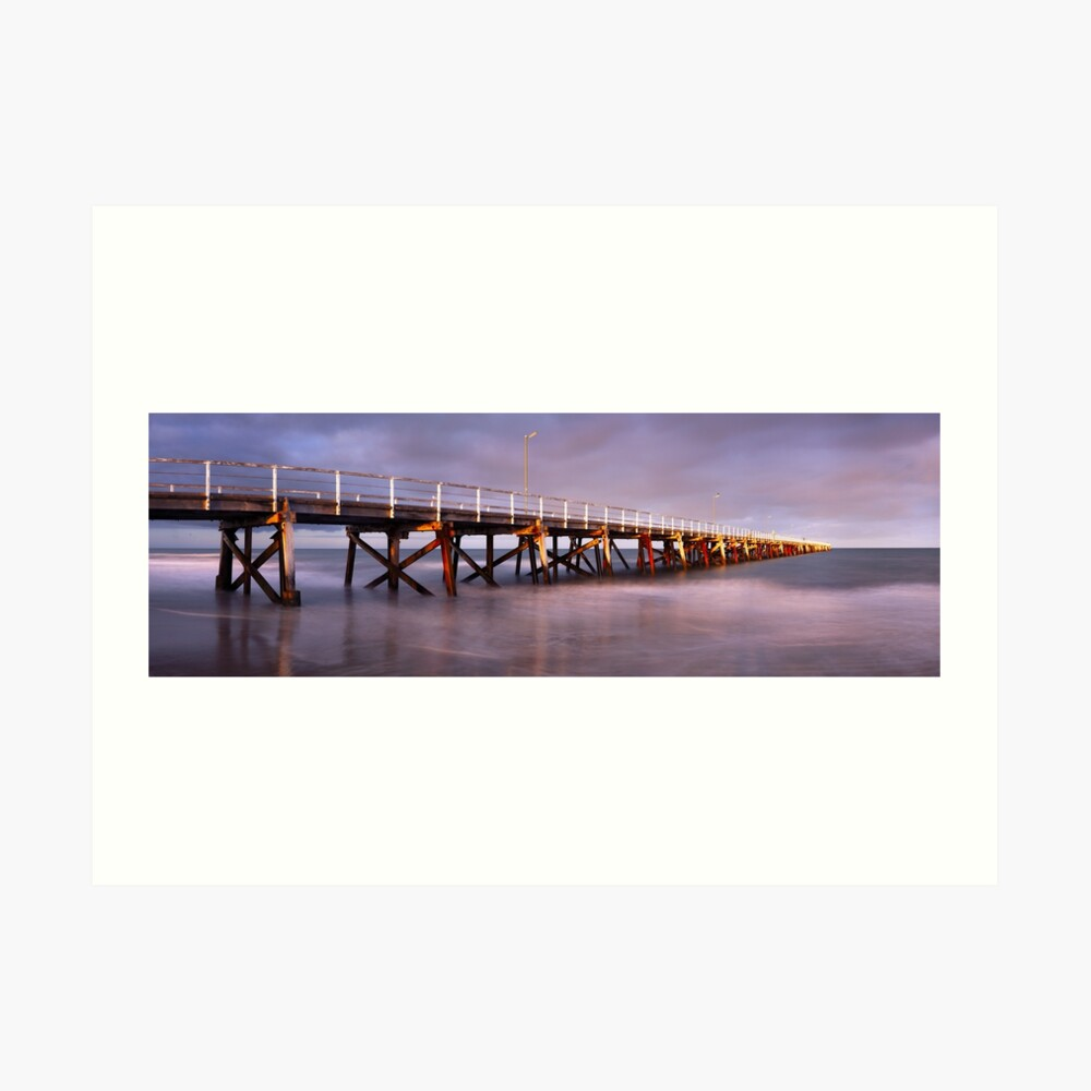 Semaphore Beach Pier, Adelaide, South Australia Art Print
