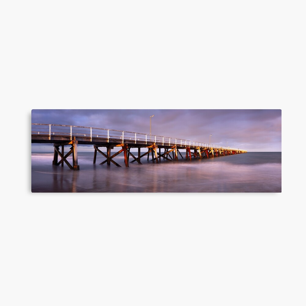 Semaphore Beach Pier, Adelaide, South Australia Canvas Print