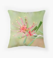 "Grevillea ""Red Sunset"" Throw Pillow"