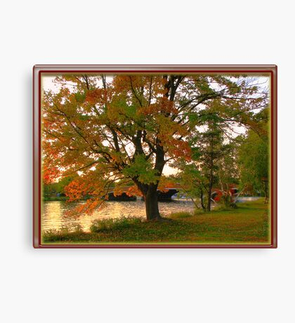 Fall time in New England Canvas Print