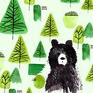 Bernard the Bear - Green by makemerriness