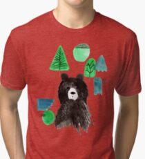 Bernard The Bear - Teal Tri-blend T-Shirt