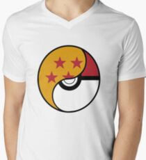 Dragon Ball x Pokemon Men's V-Neck T-Shirt