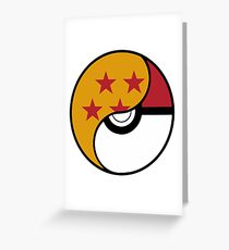Dragon Ball x Pokemon Greeting Card