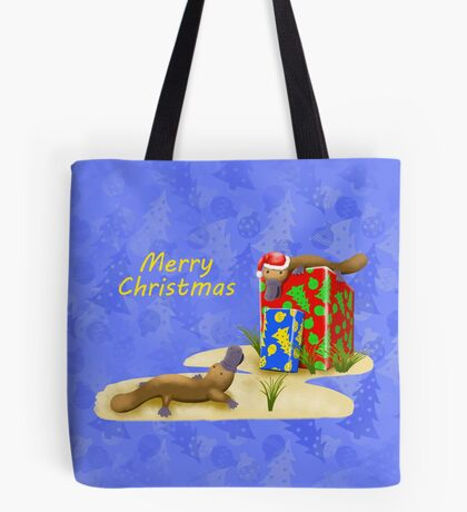 Platypus and Christmas Gifts Tote Bag