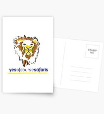 Yes Of Course Safaris Postcards