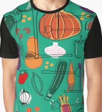 fall veggies green Graphic T-Shirt