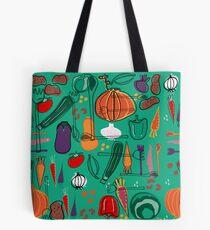 fall veggies green Tote Bag