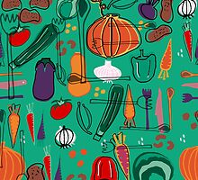 fall veggies green by susycosta