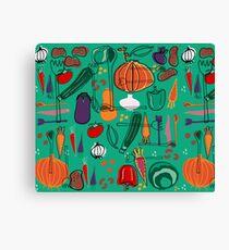 fall veggies green Canvas Print