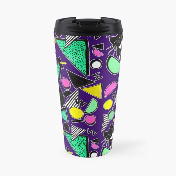 Mog Rad Cat - Purple Travel Mug