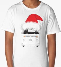 VW Camper Late Bay Christmas Hat white Long T-Shirt