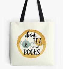 Bücher und Tee Tasche