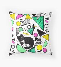 Mog Rad Cat - White Throw Pillow