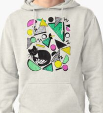 Mog Rad Cat - White Pullover Hoodie