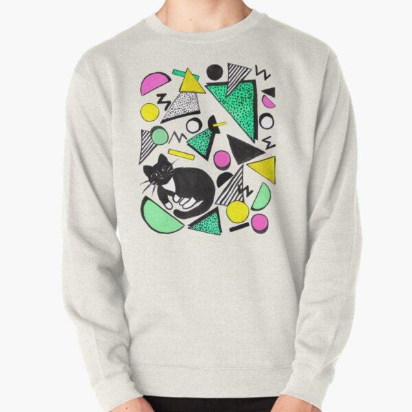 Mog Rad Cat - White Pullover Sweatshirt