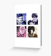The First Four Time Travellers... Greeting Card