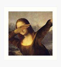 Mona Lisa Dab Meme Kunstdruck