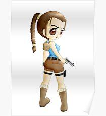 Lara Croft Chibi Anime Poster