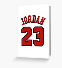Jordan 23 Greeting Card