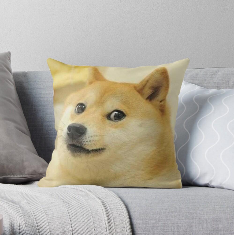 Doge Meme Throw Pillow