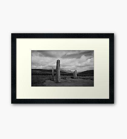 Standing Stones - Machrie Moor Arran Framed Print