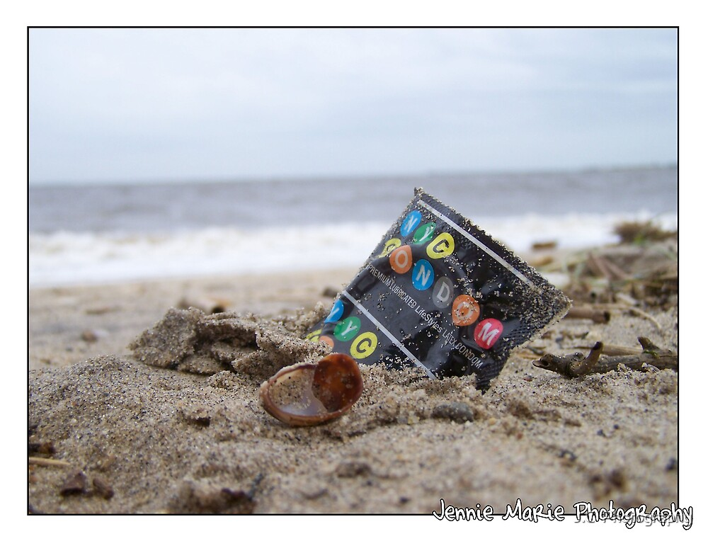 Use Condom Sense (on the beach) by J.C  Photography