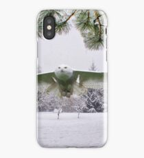 Snowy Owl In A Winter Wonderland iPhone Case/Skin