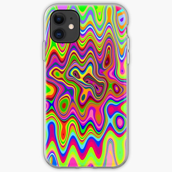 Psychedelic Glowing Colors Pattern iPhone Soft Case