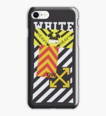 Off-White Style Virgil Abloh Diagonal Sticker iPhone Phone Case Off White Grey iPhone Case/Skin
