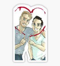 Valentine's Mormor Sticker