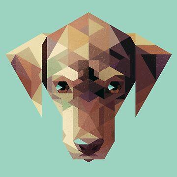 Geometric Dog by etall
