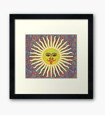 Sun Man  Framed Print